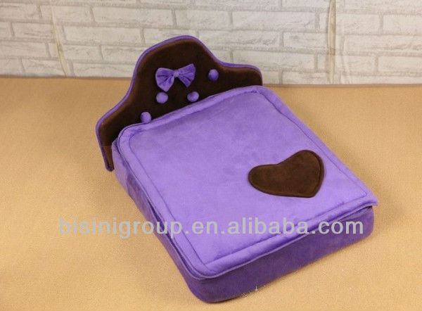 Purple pet bed, fashion dog bed, simple pet furniture (BF07-80049)