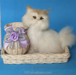 hot sale pet plush synthetic fur toy cats that look real