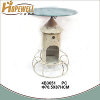 swivel round table for wine holder , metal outdoor bar table