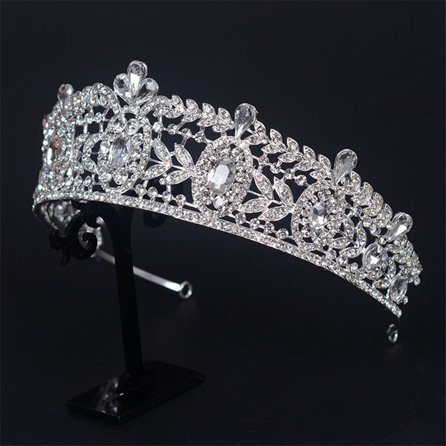 JS028 crown tiaras hairbands vintage cz baroque style luxury wedding hair accessories for bride engagement party fine jewelry