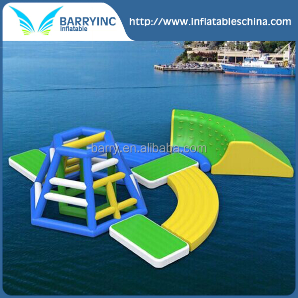 Asia inflatable summer beach ocean water toys/ inflatable water park