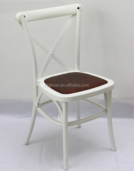 Wholesale price outdoor stackable plastic cross back chair/dining chair