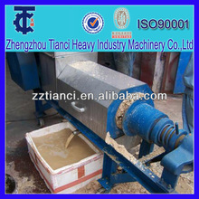 Industrial spiral extrusion stainless steel cow dung manure dewatering machine