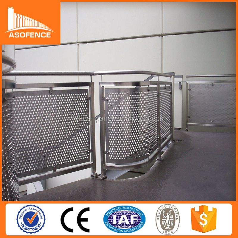 stainless steel 304 316 Perforated Steel Panel / perforated plastic mesh panel