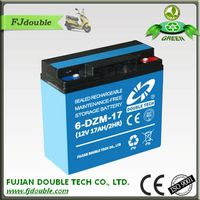 6-DZM-17 Electric Bike Battery Rechargeable Battery 12V 17AH