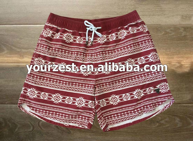 2015 NEWEST MEN'S WASHED OUT FASHIONABLE PIGMENT PRINT BOARD SHORTS