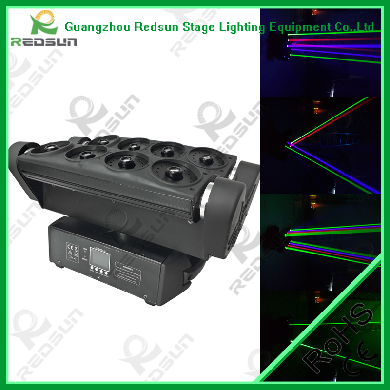 Stage lighting equipment disco lighting eight head moving head spider laser stage light