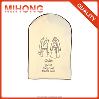 Foldable customized frimly with pvc non woven suit cover garment bag