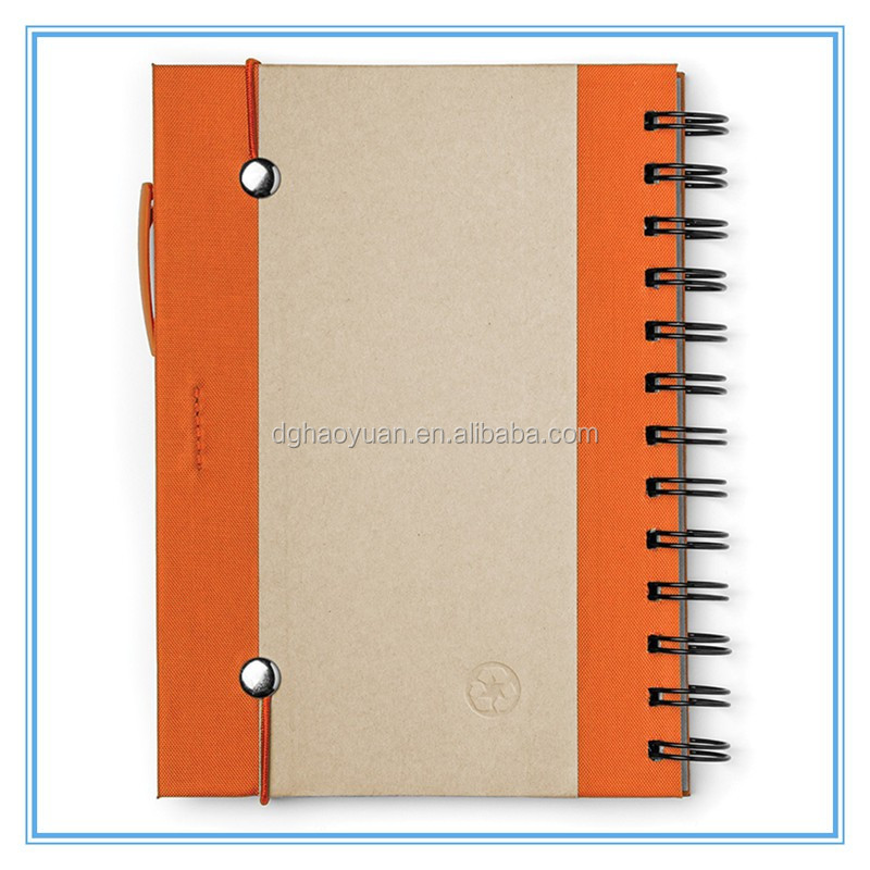 "Custom Recycled lines Kraft Notebook 5""*7"" Hardcover Notebook"