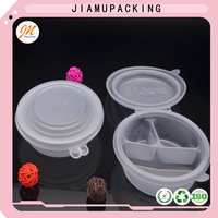 High quality disposable plastic clamshell round storage PP food container for sale