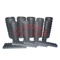 Flat plastic corrugated pipe prestressed bridge anchorage duct