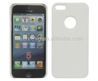 Pure white case for iphone 5 pc case/single layer diy case for iphone5 5s/for iphone 5 white case oem+logo accepted ebay China