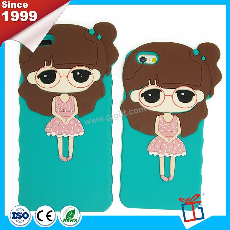 Oem color cute make silicone bank case