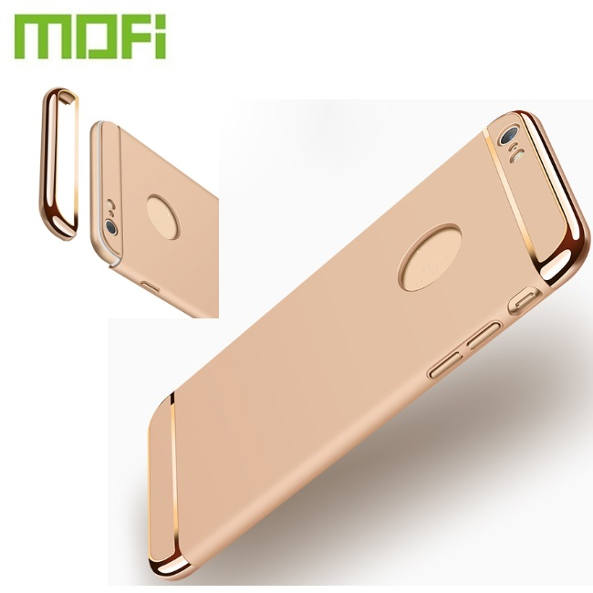 Mofi Luxury 3 In 1 Eleatroplating Hard PC Cell Mobile Phone Back Cover Covers Casing Case For iPhone 7 6 5 5S Plus