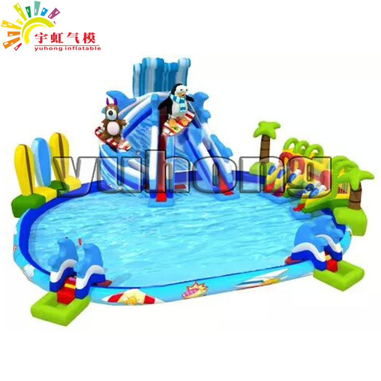 south pole penguin bear inflatable amusement water park game outdoor