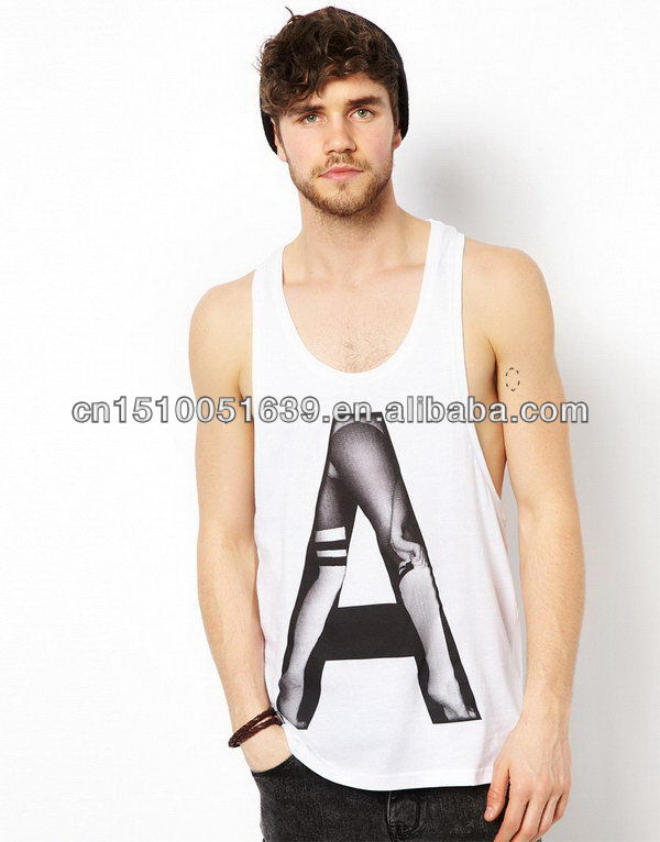 Cheap top sell high quality 3d sublimation mens tank top