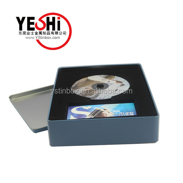 custome wedding favor cute cd dvd box/metal dvd case