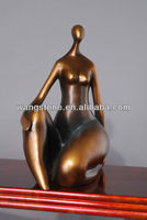 Abstract Life Size Copper nude Lady Statue