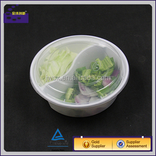 Round Disposable Plastic Food Bento Boxes Container With Lids 900 ml