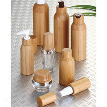 natural wooden cosmetic packaging,Bamboo cream pump bottle,100g bamboo cream jar