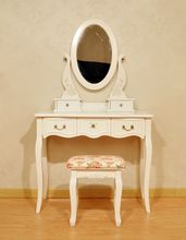 Bed room dressing table and dresser with mirror