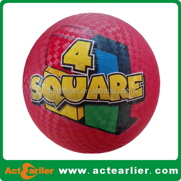 8.5 inch inflatable rubber playground bouncing balls for kids