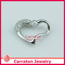 Carraton PSTX5018 Fashion 925 Sterling Silver Jewellery Heart Shaped Pendant