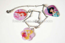 cute popular metal bracelets with heart shaped pendant for beautiful girls