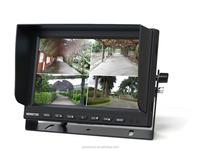 DC 12-24V 9 Inch 4 Split Quad Screen Display Color Car Monitor for Car Truck Bus Reversing