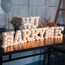2018 Top Sale Led Letter Marquee Lights WILL YOU MARRY ME