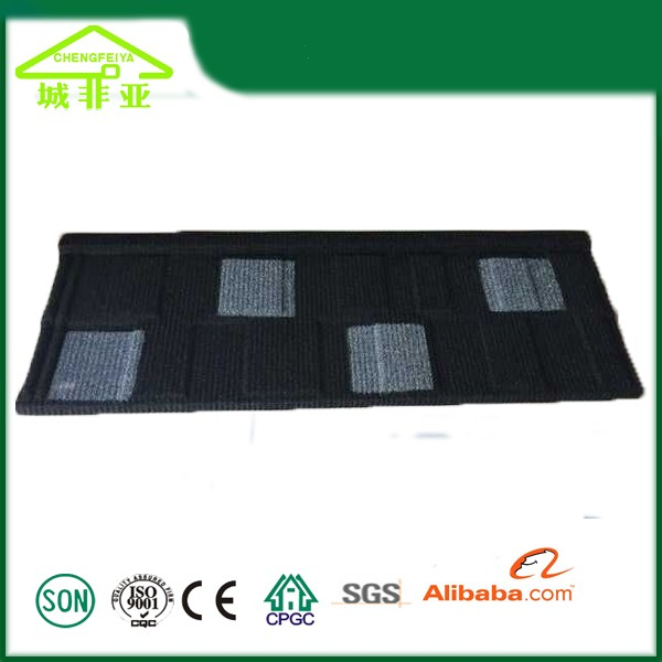 Mix color stone coated metal roof tile for house