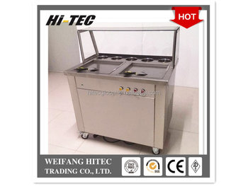 Double Pan Fried Ice Cream Machine
