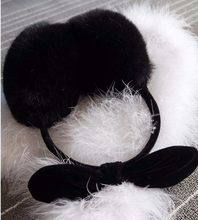 Factory direct sales of high-quality bow cute rabbit ears earmuffs thermal simulation plush winter ears ear warmer cover