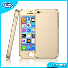 For iPhone 5 se 6 7 Case 360 full PC Slim Hybrid Protective Phone Case for iPhone 7 with Tempered Glass Protector