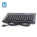 Three locks 78 Keys Pos Programmable Keyboard With Magnetic Reader