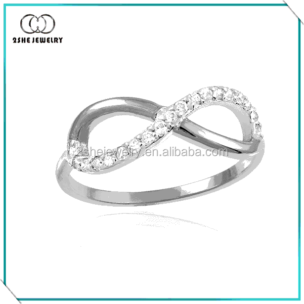 High Quality Gorgeous 925 Silver Infinity Ring