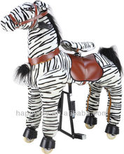 HI EN71 mechanical Zebra rocking horse for kid