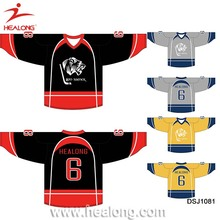 Custom Ice Hockey Jersey Team Set Cheap 6XL Hockey Jersey Shirts Wear