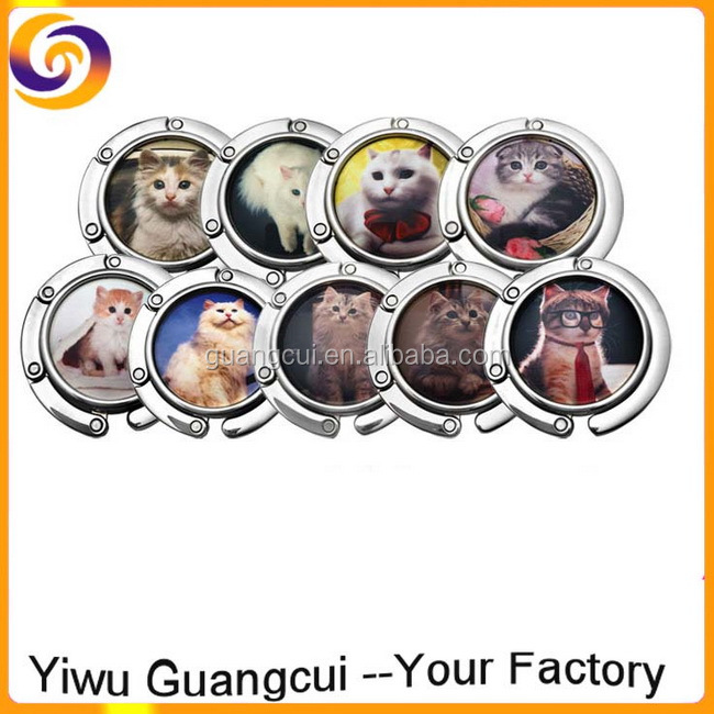 Wholesale Customized Logo cat folding bulk purse hook