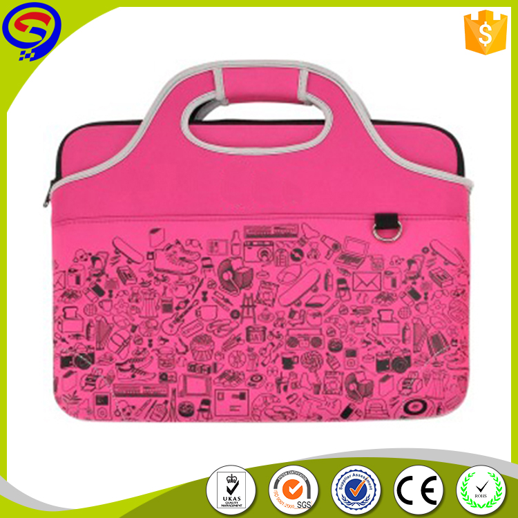 2016 New laptop cover free sample, Cute custom made neoprene laptop bag