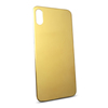 Gold plating glass back cover for iphone X