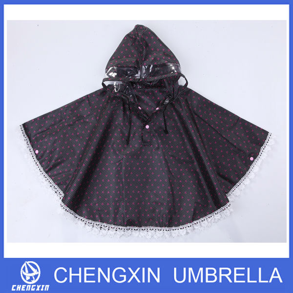 waterproof custom printed polyester rain ponchos