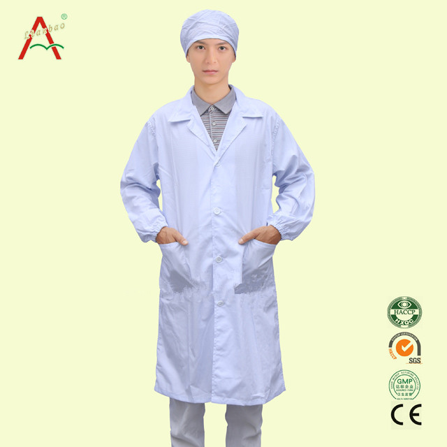 High quality Hospital Uniform 100% cotton lab coat