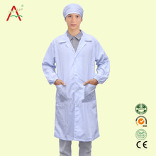 High quality european uniform 100% cotton lab coat