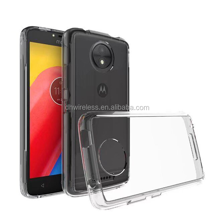 clear pc tpu cover for moto c acrylic phone back case for motorola moto C