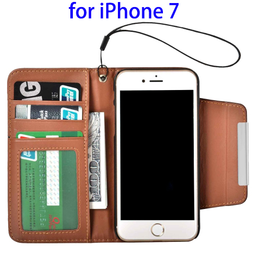 Flip Pu Case Cover For iPhone 7 Case TPU Leather Wallet Cover Case Bag