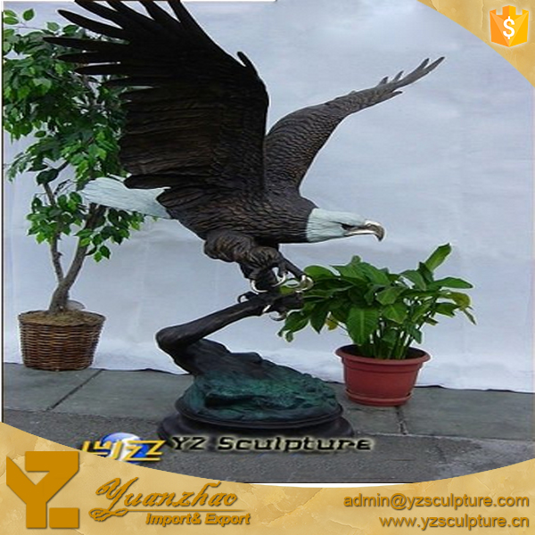 outdoor Garden Cast Bronze American Eagle Sculpture