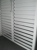FSC Solid Pine Wood Bi-folding Louver Shutter Doors