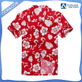 Hawaii Hangover Hawaiian Shirt Aloha Shirt in Red Hibiscus
