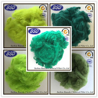 colored recycled pet fiber wholesale alibaba